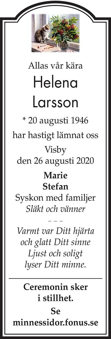 Helena Larsson Death notice