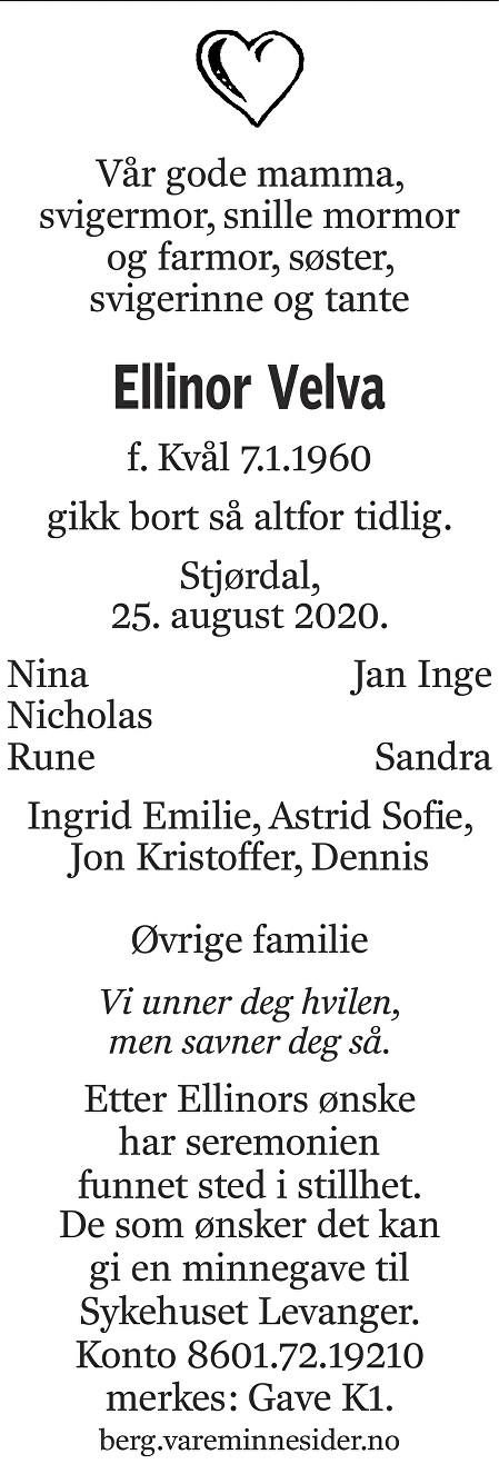 Ellinor Velva Dødsannonse