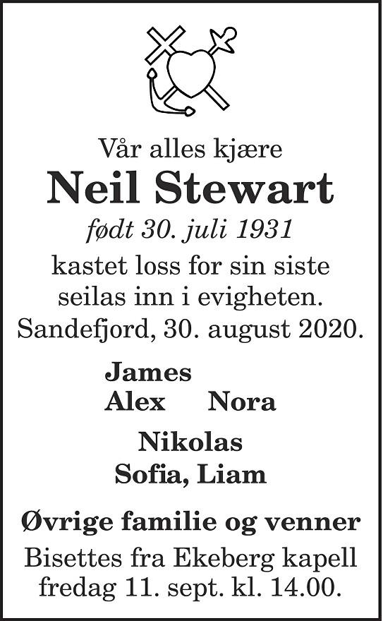 Neil Stewart Dødsannonse
