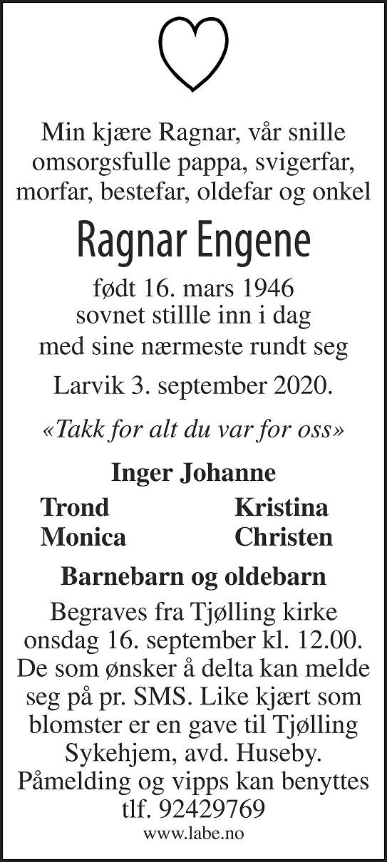 Ragnar Engene Dødsannonse