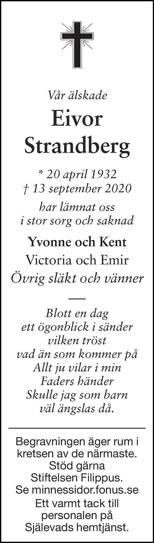 Eivor Strandberg Death notice