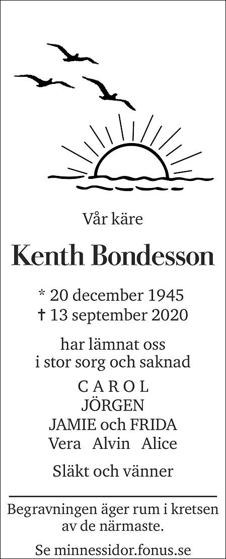Kenth Bondesson Death notice