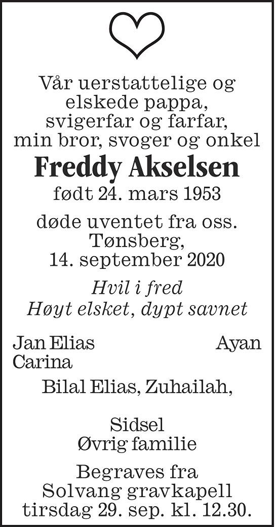 Freddy Akselsen Dødsannonse