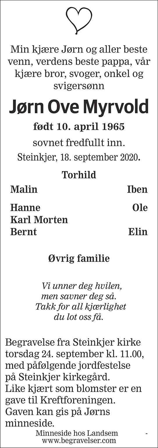 Jørn Ove Myrvold Dødsannonse