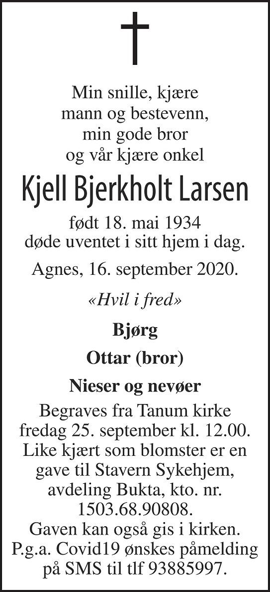 Kjell Larsen Dødsannonse