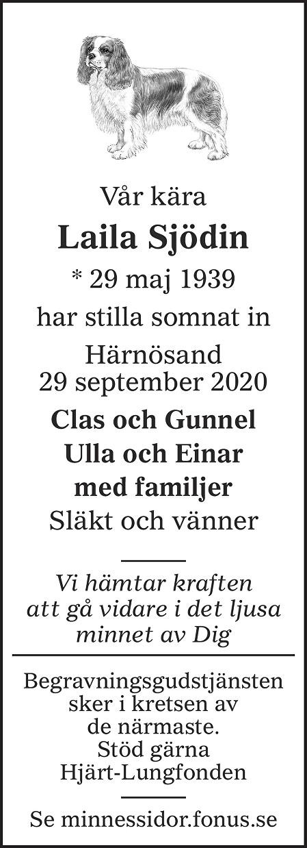 Laila Sjödin Death notice