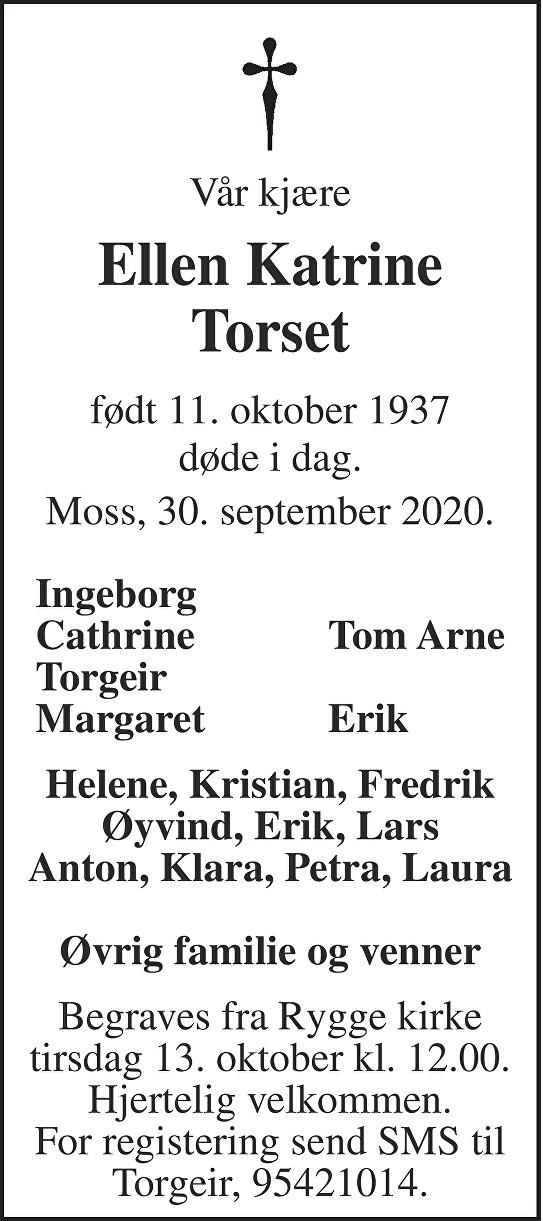 Ellen Katrine Torset Dødsannonse