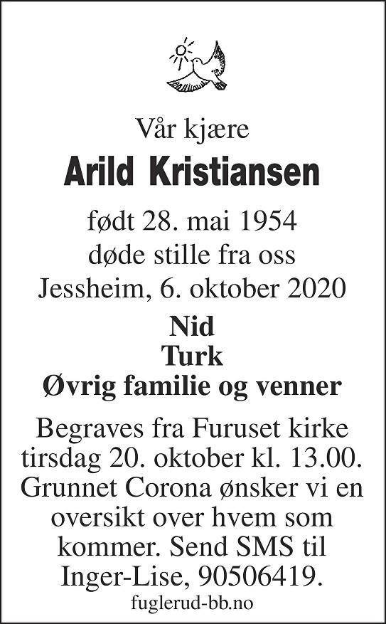 Arild Kristiansen Dødsannonse