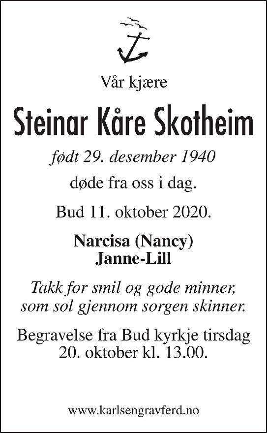 Steinar Kåre Skotheim Dødsannonse
