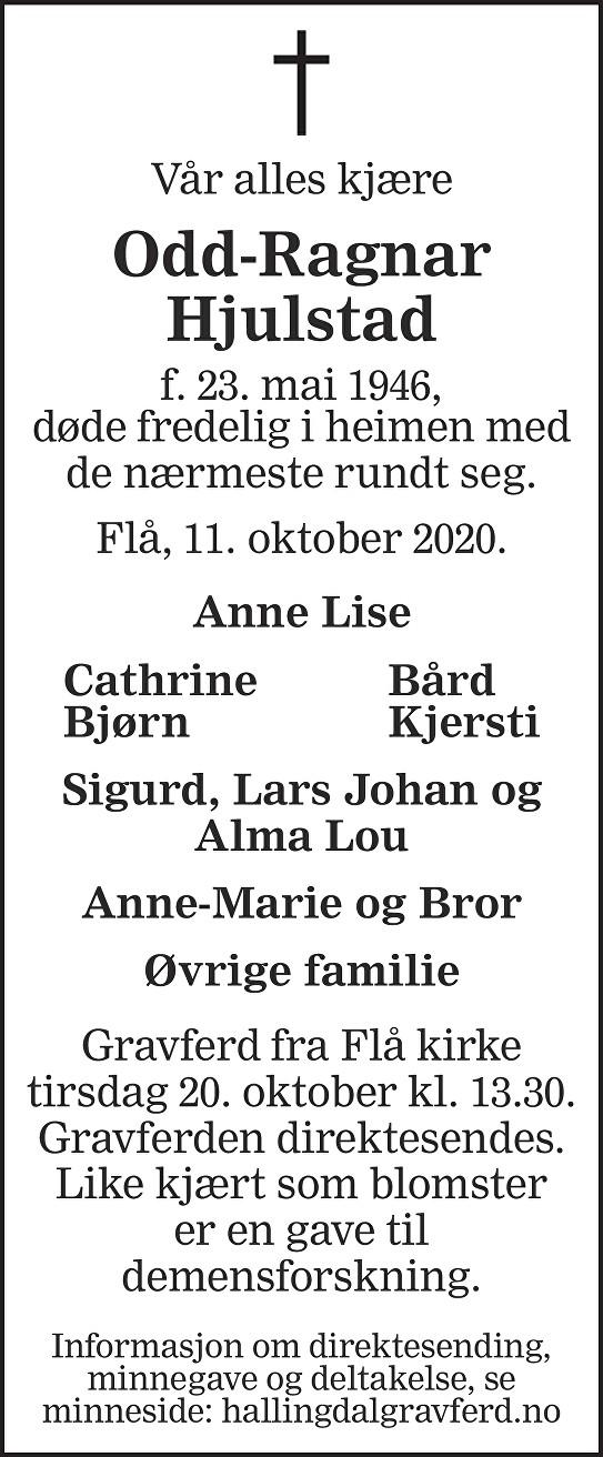 Odd-Ragnar Hjulstad Dødsannonse