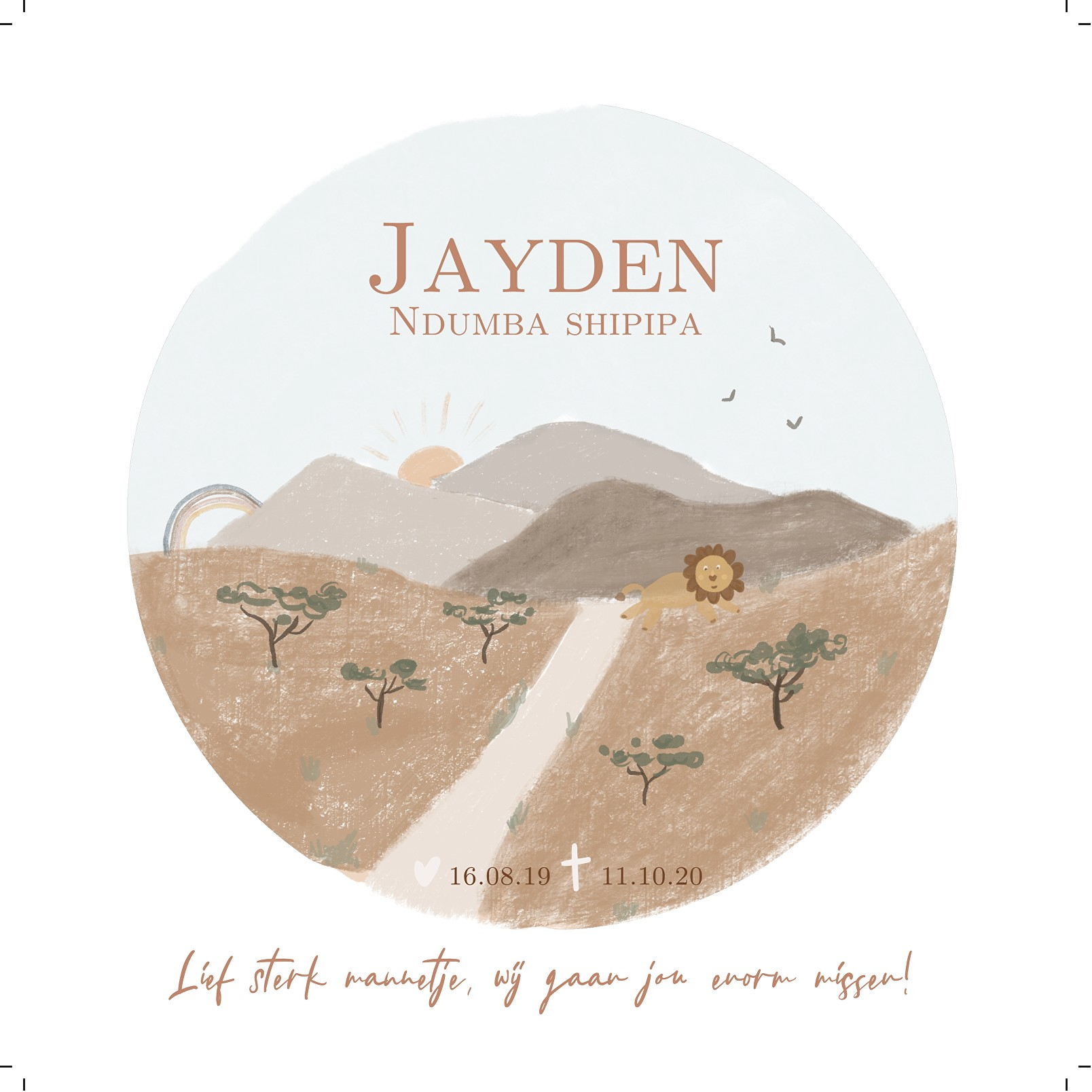 Jayden Shipipa Death notice