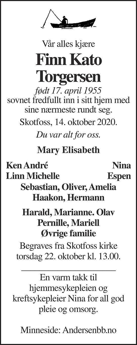 Finn Kato Torgersen Dødsannonse