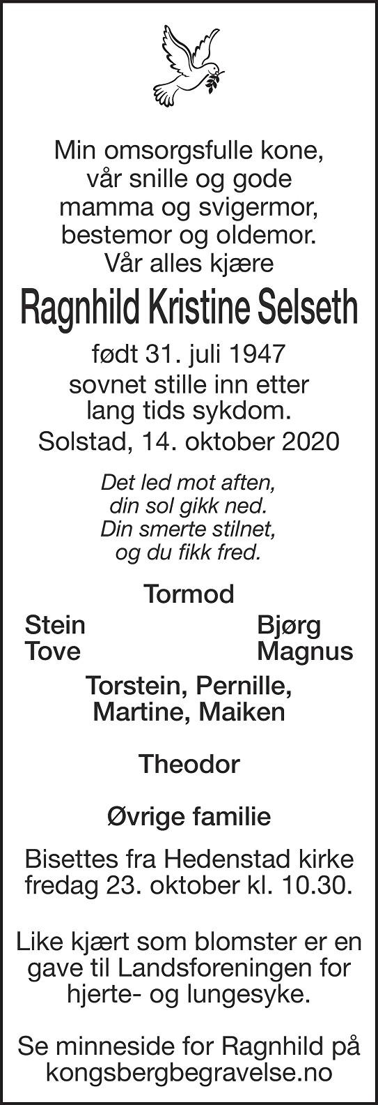 Ragnhild Kristine Selseth Dødsannonse