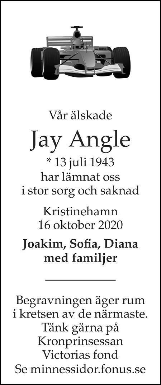 Jay Angle Death notice