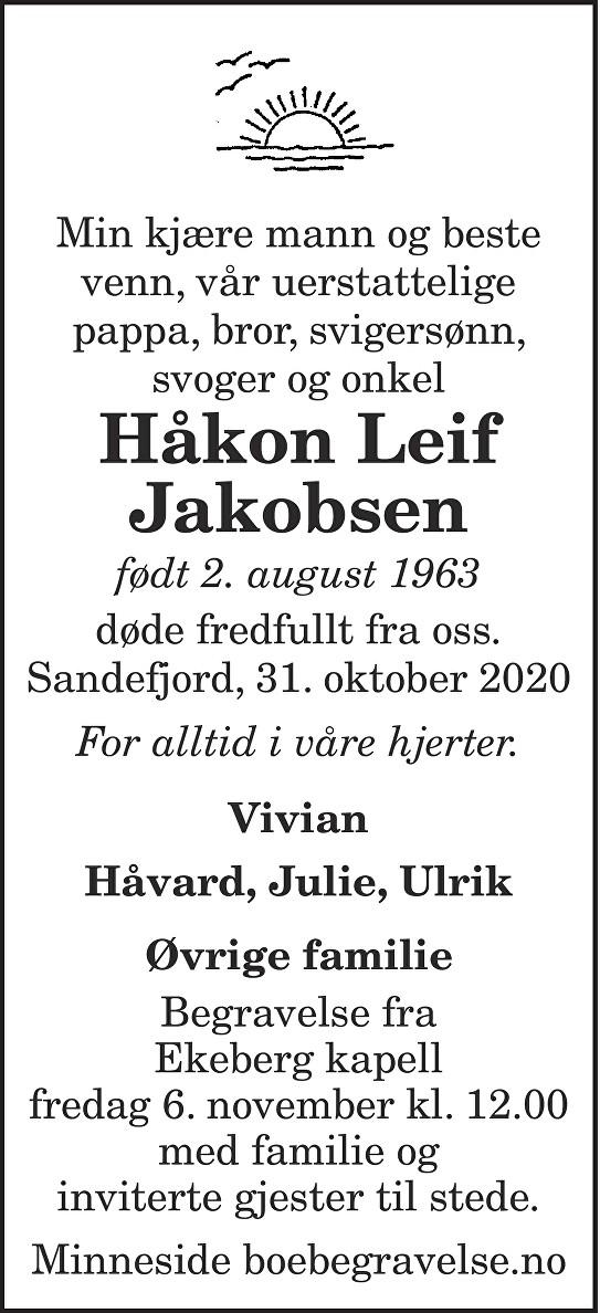 Håkon Leif Jakobsen Dødsannonse