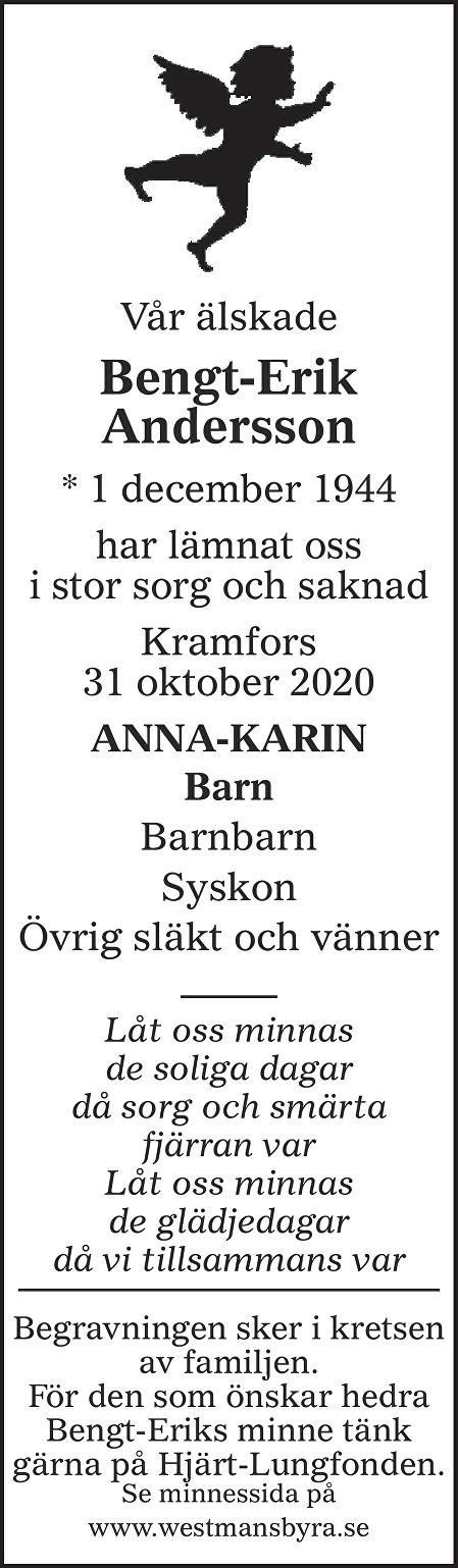 Bengt-Erik Andersson Death notice
