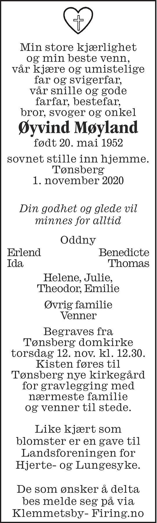 Øyvind Møyland Dødsannonse