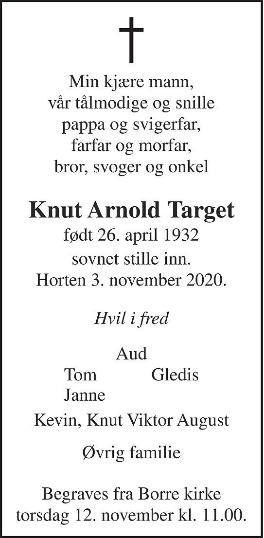 Knut Arnold Target Dødsannonse