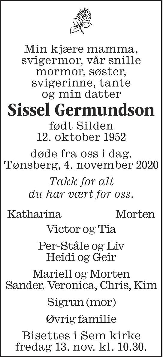 Sissel Germundson Dødsannonse