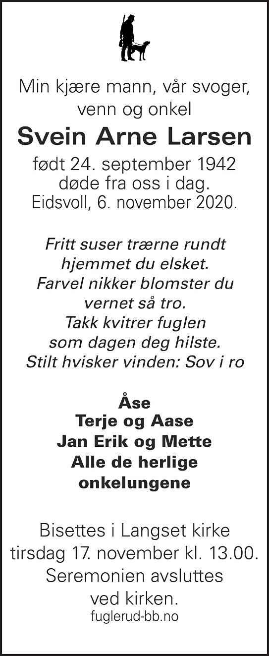 Svein Arne Larsen Dødsannonse