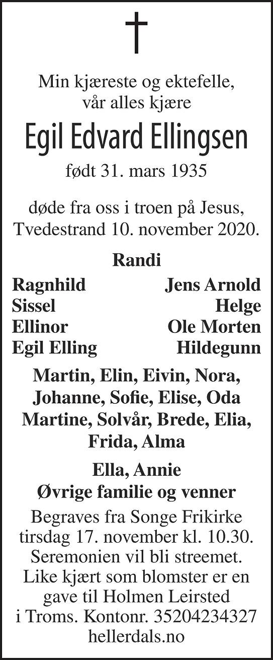 Egil Edvard Ellingsen Dødsannonse