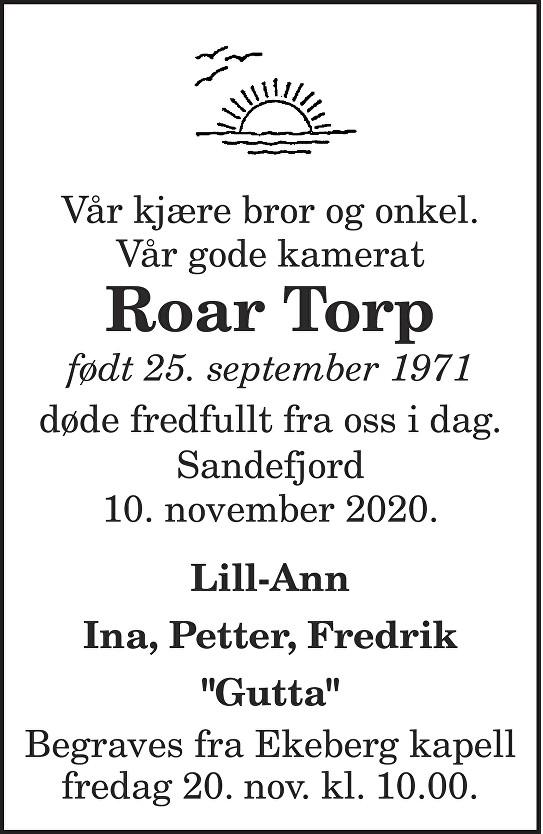 Roar Torp Dødsannonse