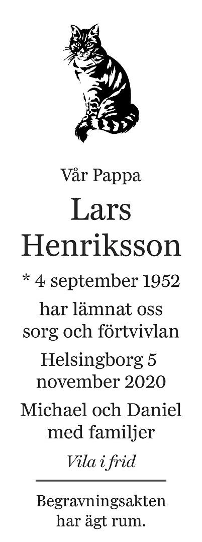 Lars Henriksson Death notice
