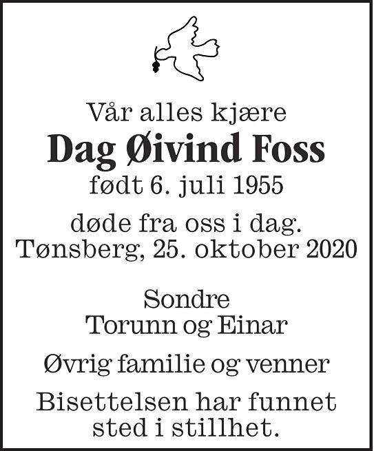 Dag Øivind Foss Dødsannonse