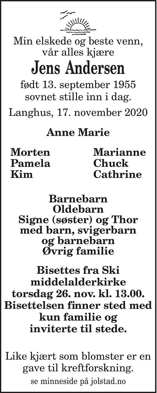 Jens Andersen Dødsannonse