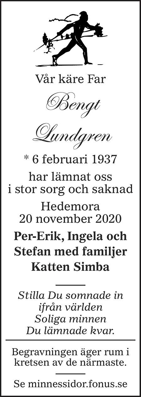 Bengt Lundgren Death notice