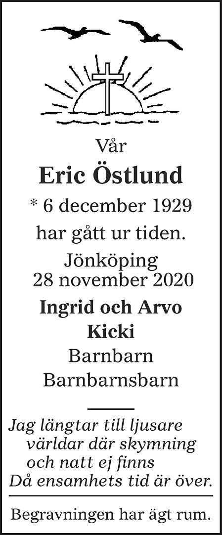 Eric Östlund Death notice