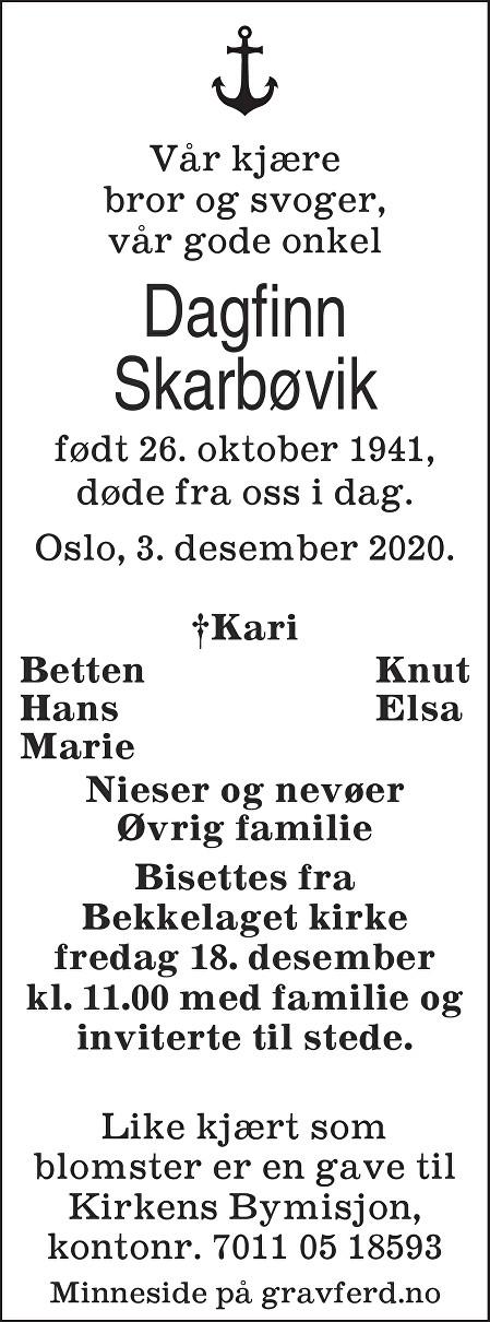 Dagfinn Skarbøvik Dødsannonse