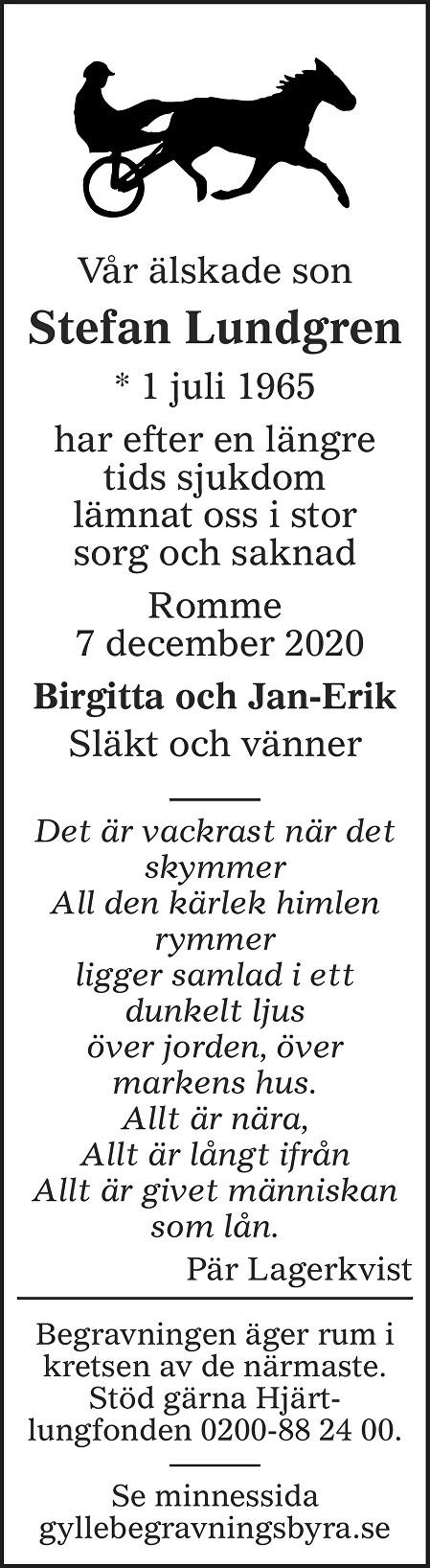 Stefan Lundgren Death notice