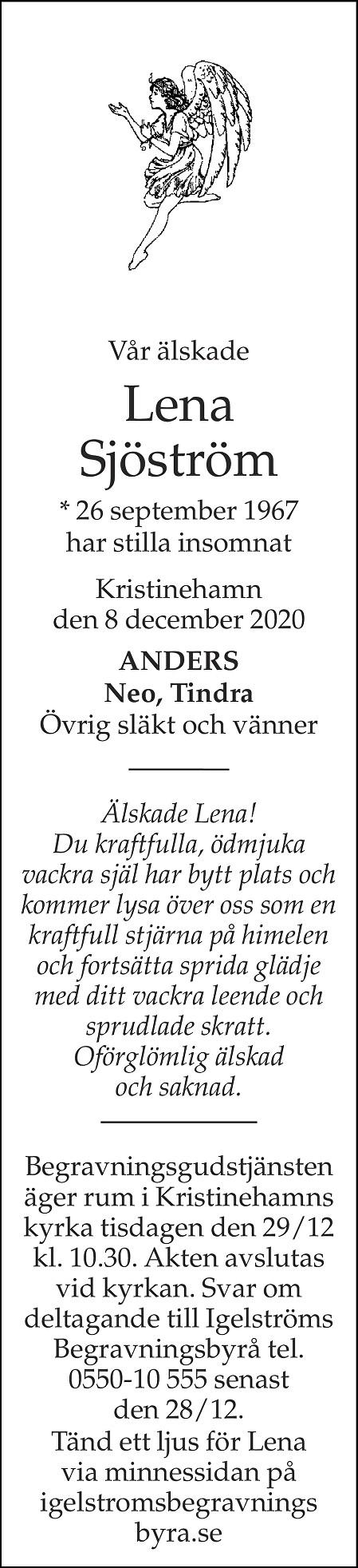 Lena Sjöström Death notice