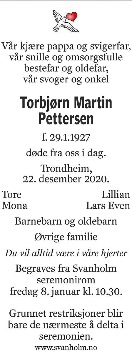 Torbjørn Pettersen Dødsannonse