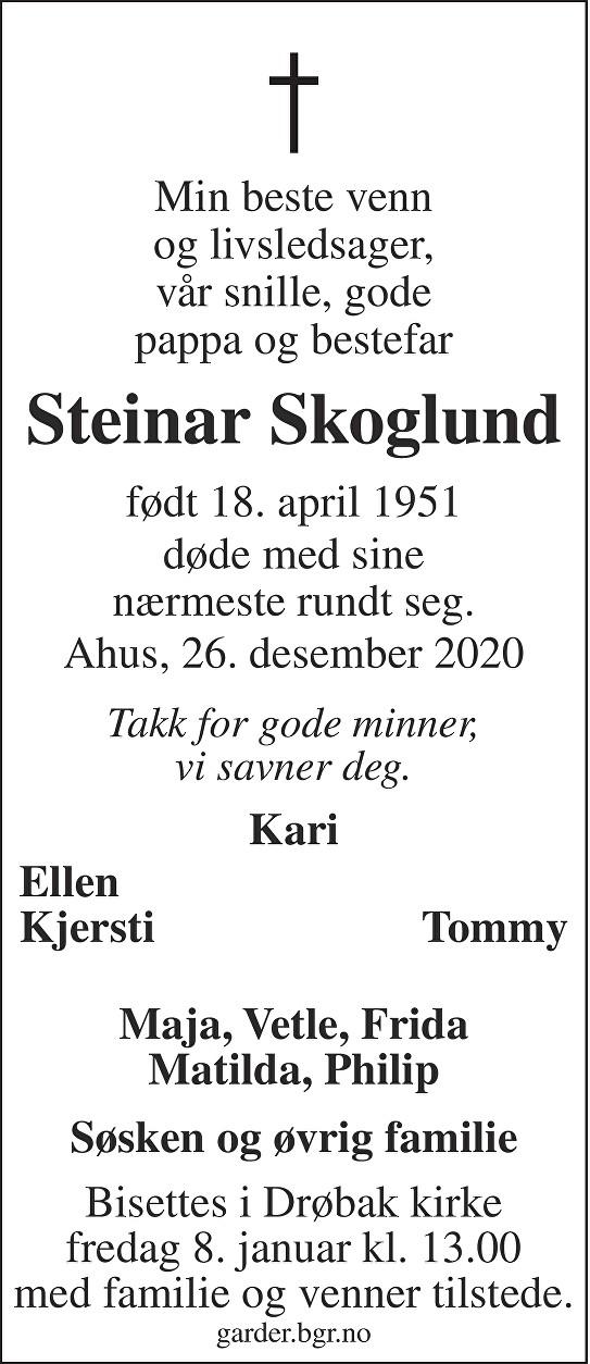 Steinar Skoglund Dødsannonse