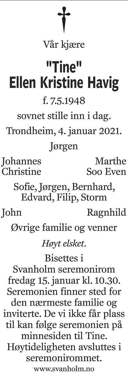 Ellen Kristine Havig Dødsannonse