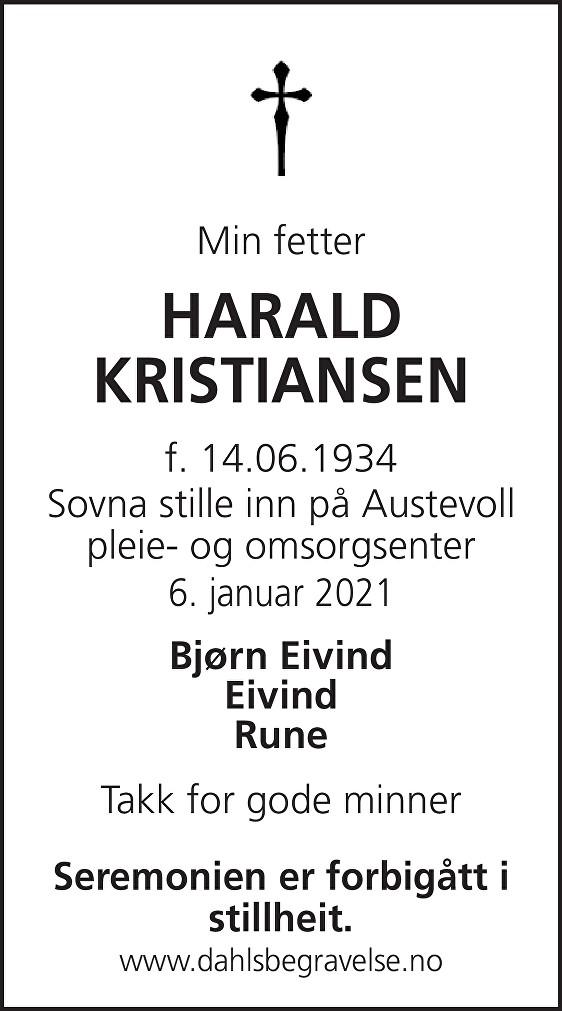 Harald Kristiansen Dødsannonse
