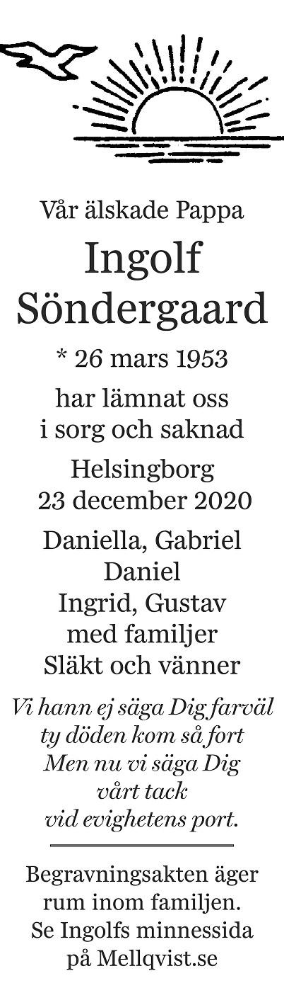 Ingolf Söndergaard Death notice