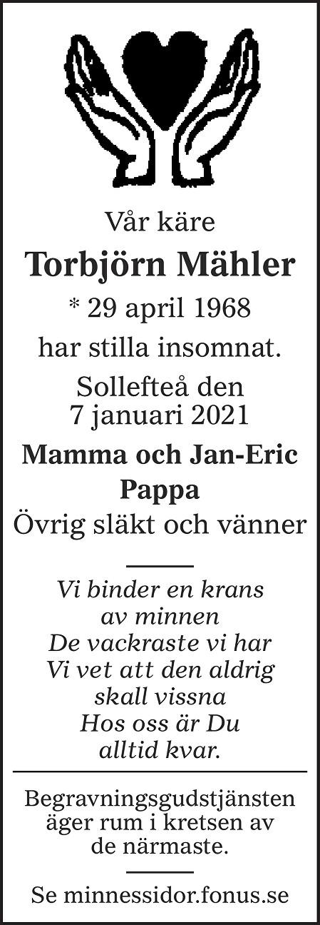 Torbjörn Mähler Death notice