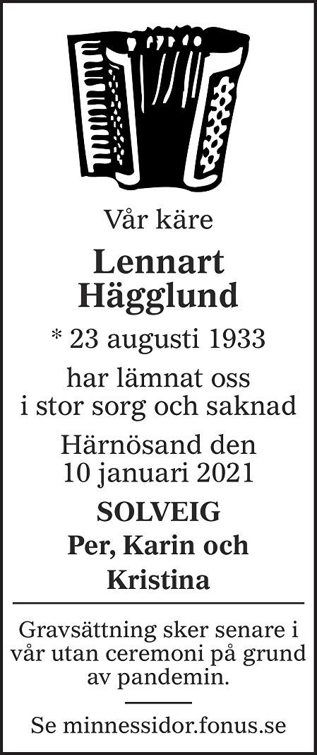 Lennart Hägglund Death notice
