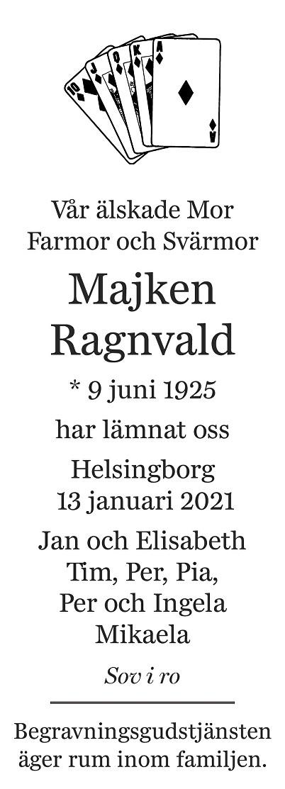Majken Ragnvald Death notice