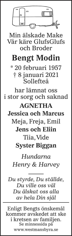Bengt Modin Death notice