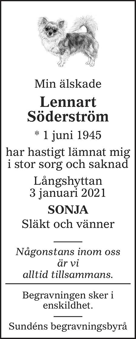 Lennart Söderström Death notice