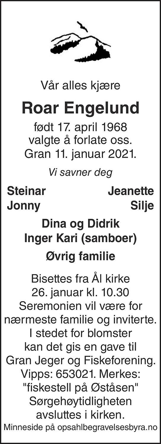 Roar Engelund Dødsannonse