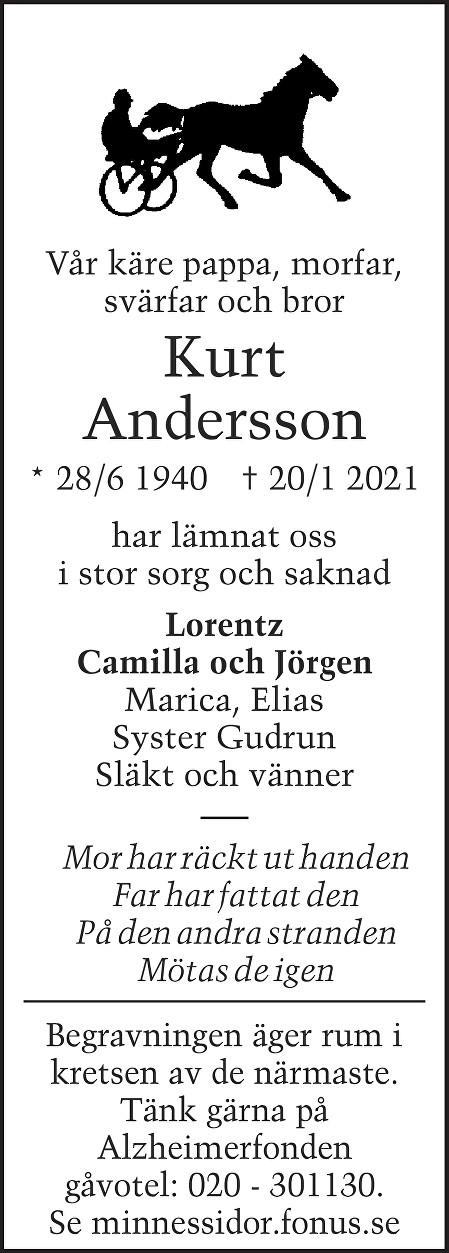 Kurt Andersson Death notice