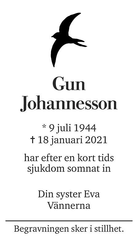 Gun Johannesson Death notice