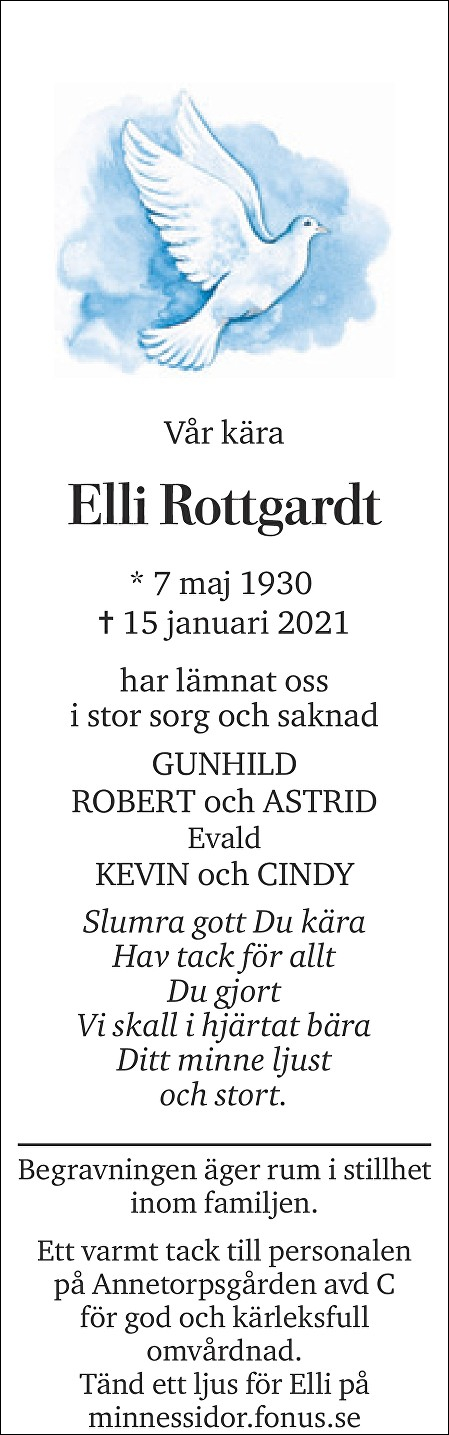 Elli Rottgardt Death notice