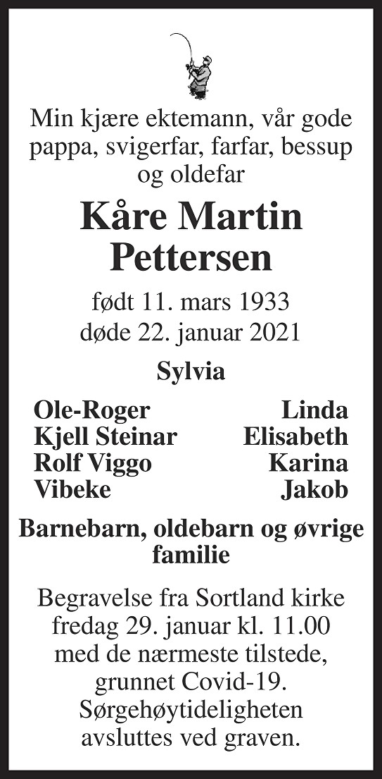 Kåre Martin Pettersen Dødsannonse