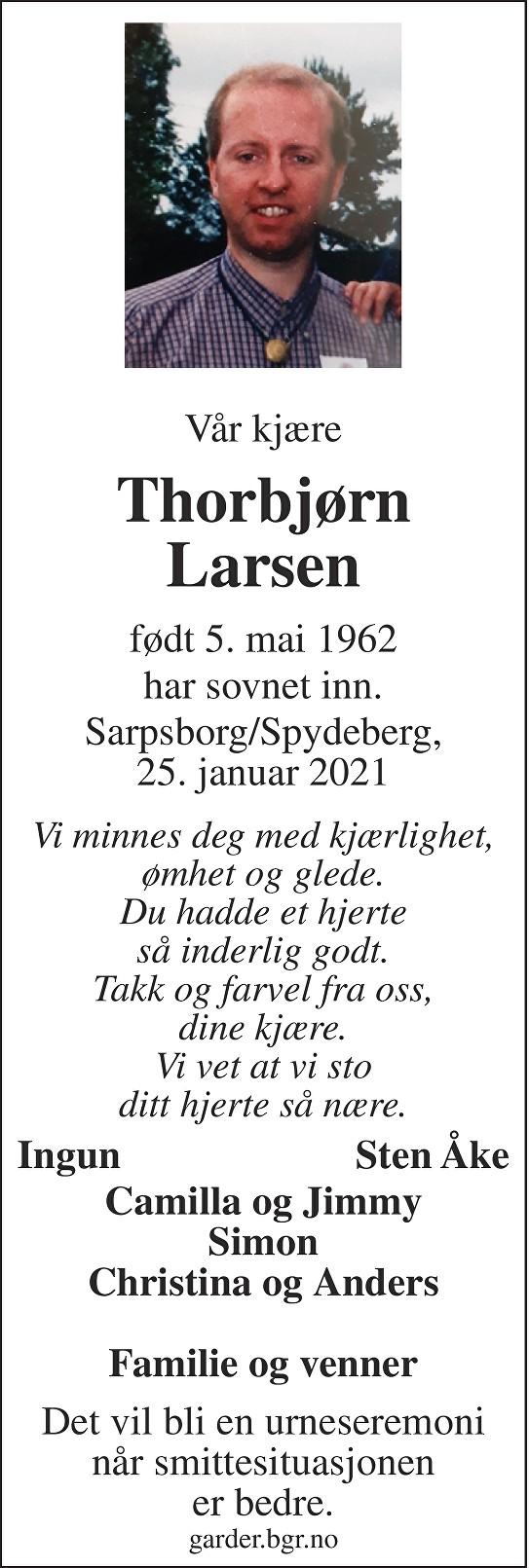Thorbjørn Larsen Dødsannonse